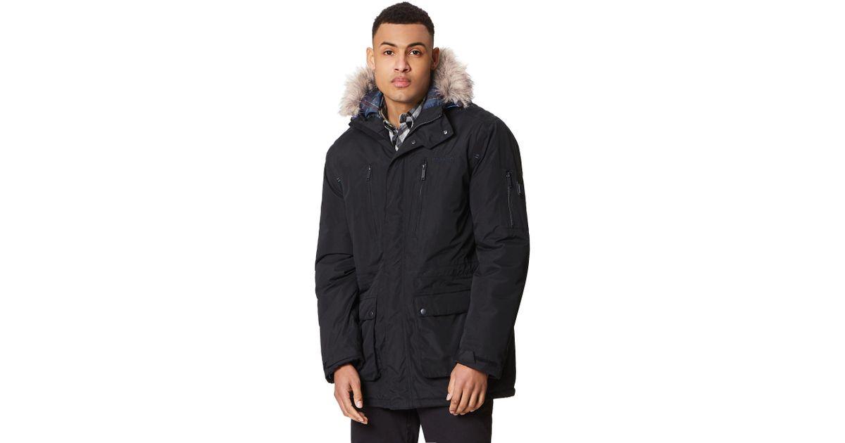 5f39e2a63a48 Regatta Black 'salinger' Insulated Hooded Waterproof Parka in Black for Men  - Save 40% - Lyst