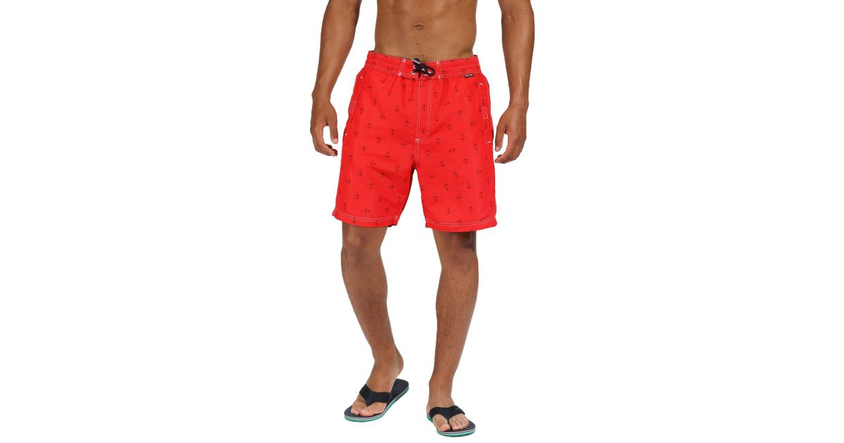 75f68c933b Regatta Hadden Ii Swim Shorts in Red for Men - Lyst