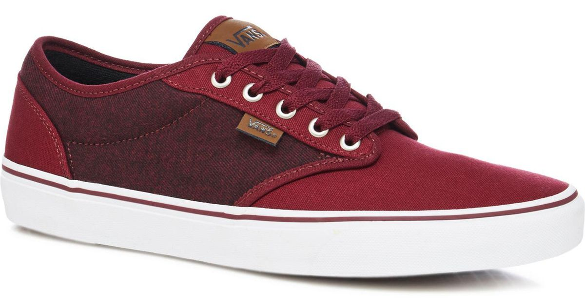 42ae2263fc Vans Plum  atwood  Lace Up Trainers in Red for Men - Lyst