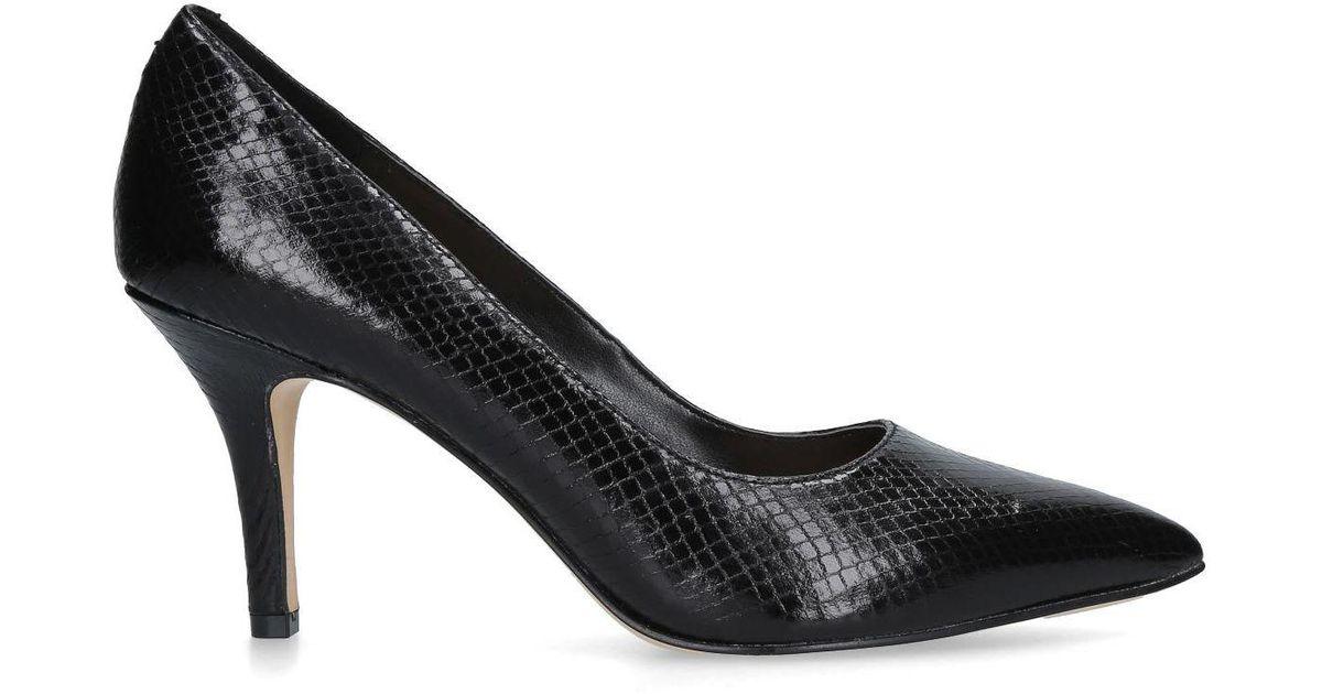 d47d3a9bdbb Nine West Black  flagship 75  Snake Print Court Shoes in Black - Lyst