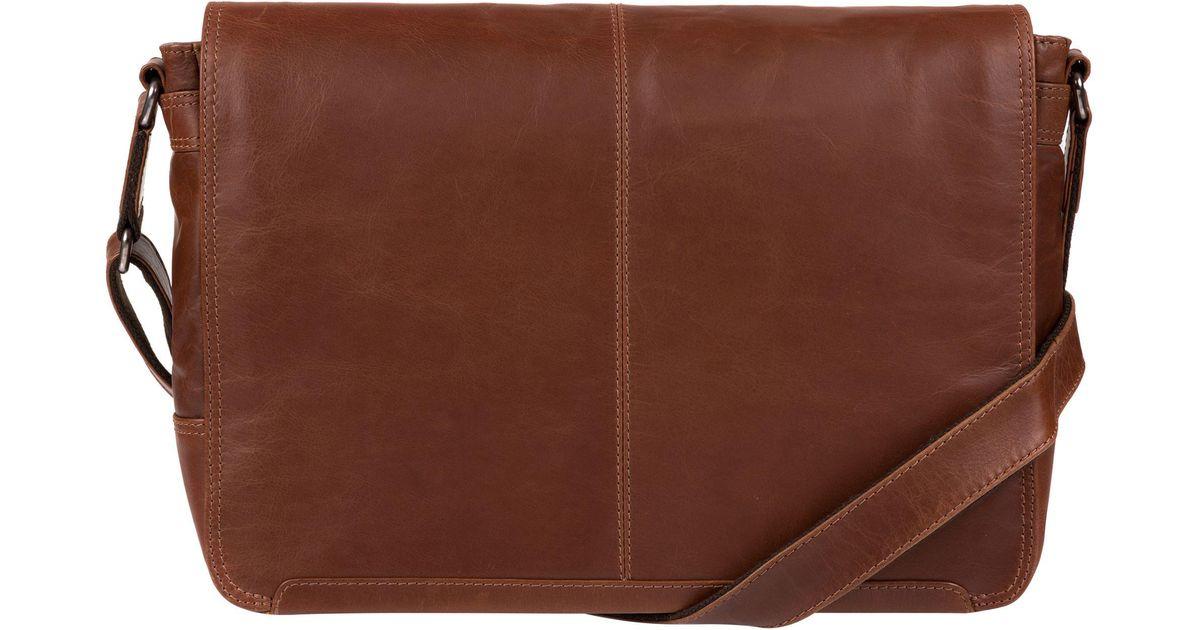 c4af2349b2ce Conkca London Conker Brown  bermondsey  Natural Leather Messenger Bag in  Brown for Men - Lyst