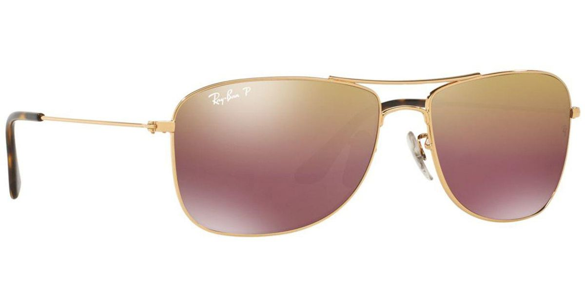 d7c66cdbd6 Ray-Ban Gold Rb3543 Pilot Sunglasses in Metallic for Men - Lyst
