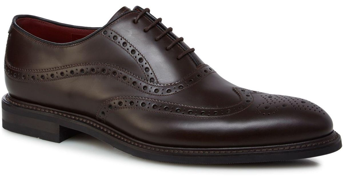 17cceb14 Loake Dark Brown Leather 'demon' Brogues in Brown for Men - Lyst