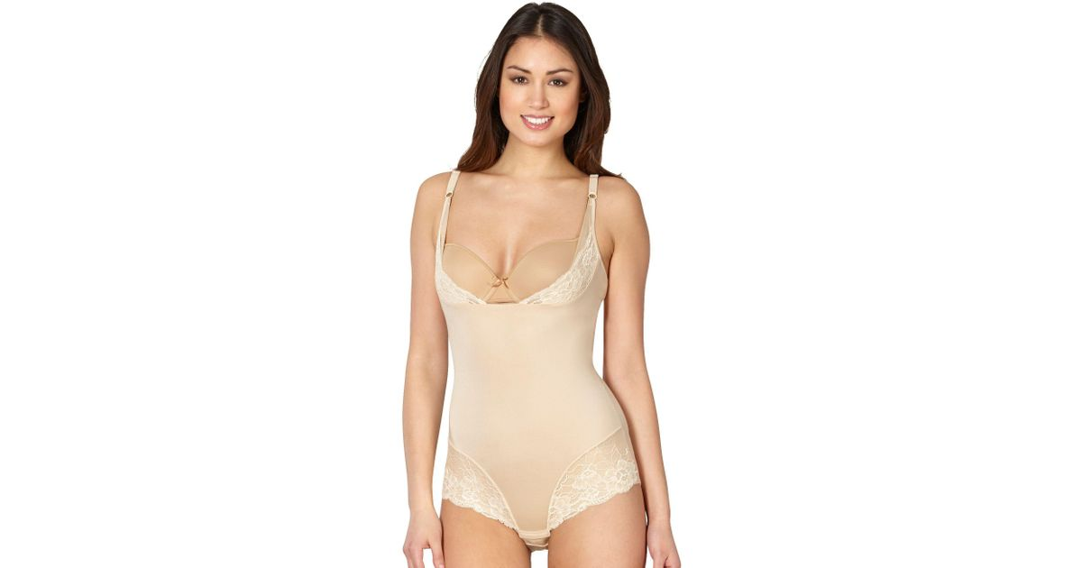 5918c57e4f Maidenform Natural  wear Your Own Bra  Firm Control Shapewear Body in  Natural - Lyst