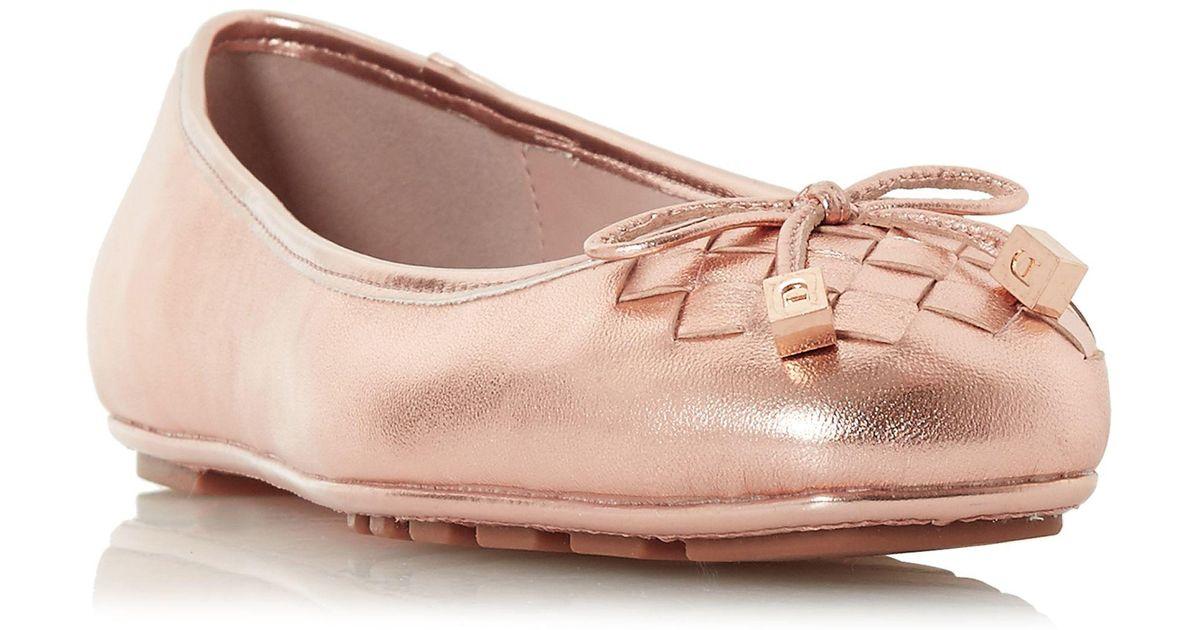 8de311b01 Dune Rose Leather 'harland' Ballet Pumps in Pink - Lyst
