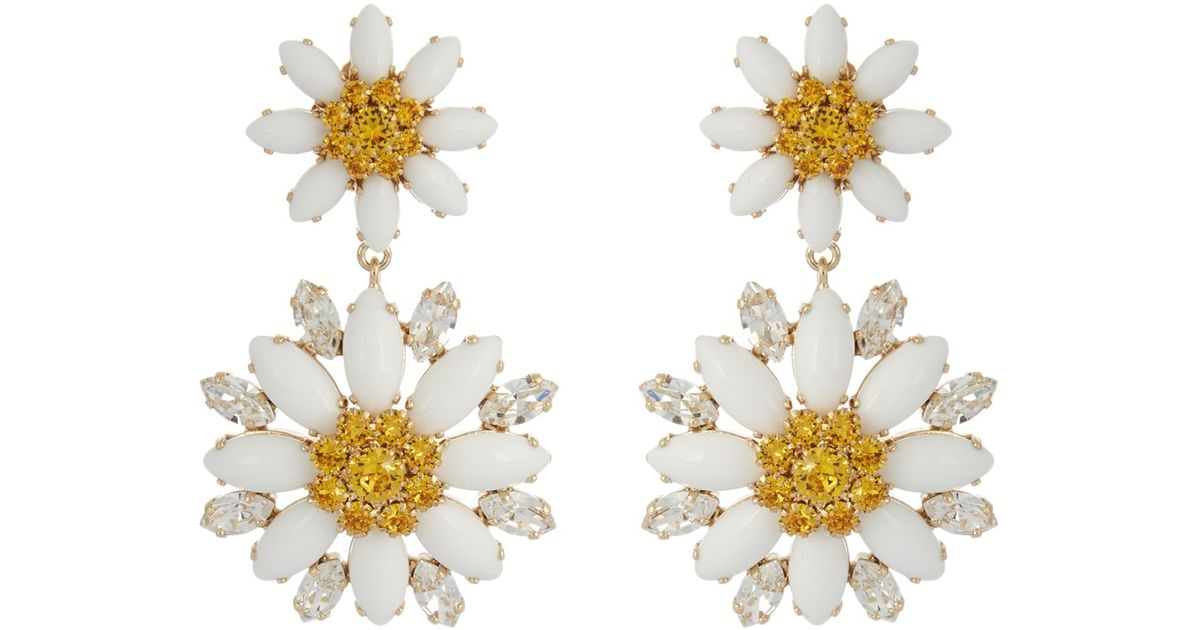 earrings daisy product flower double drop
