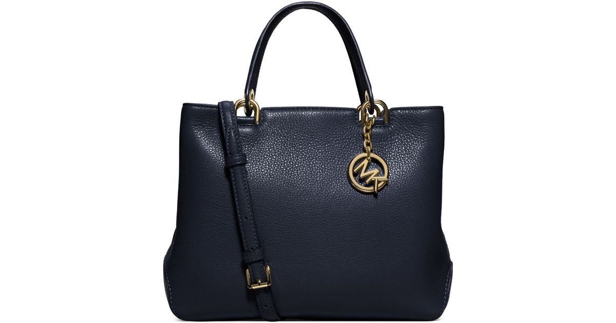 c86fc3a49da8 Michael Kors Anabelle Medium Leather Tote Bag in Blue - Lyst