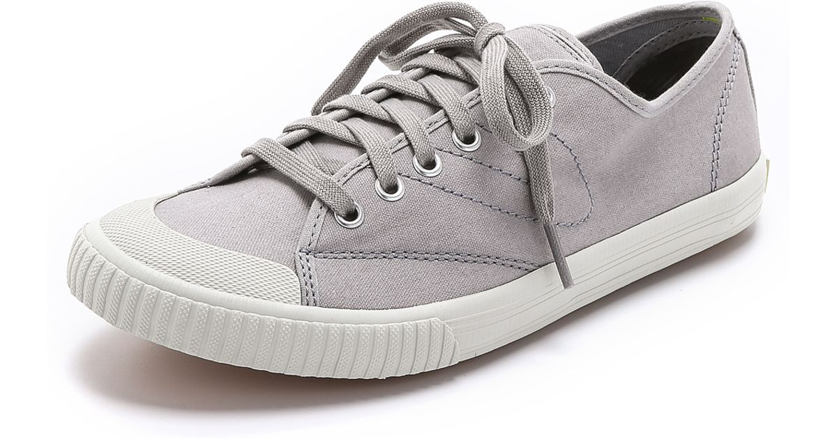 8e2d86dcc7d58f Lyst - Tretorn Tournament Washed Canvas Sneakers - Paloma in Gray