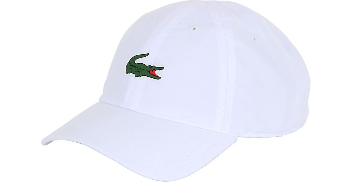 bcc7f96af5f Lacoste Microfiber Tennis Hat in White for Men - Lyst