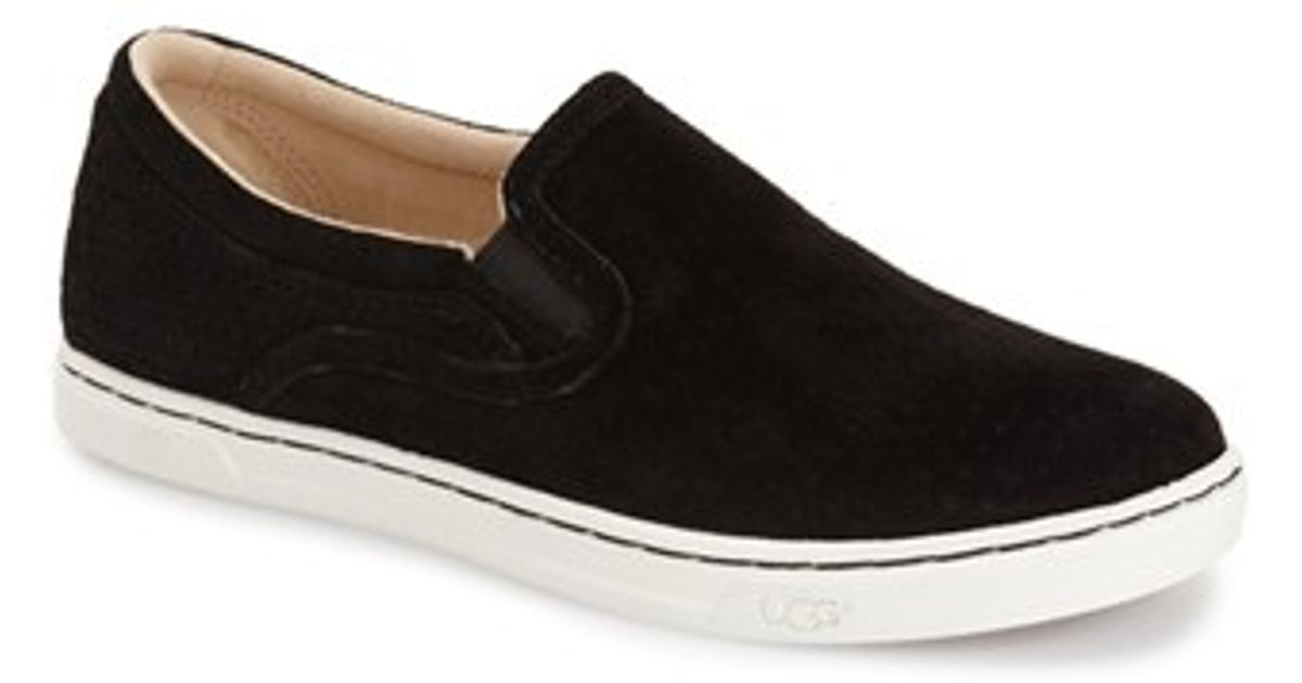 Ugg Fierce Geo Perforated Slip On Sneakers In Black For
