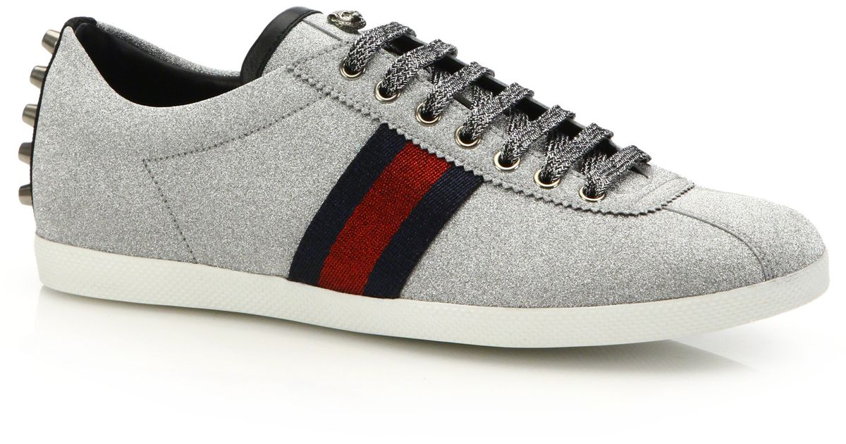 Gucci Sparkle Sneakers In Gray For Men Grey Lyst
