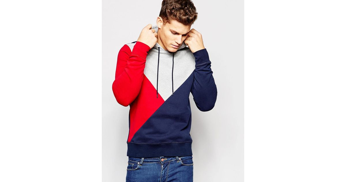 0aef367b74 Tommy Hilfiger Hoodie With Block Colour in Blue for Men - Lyst
