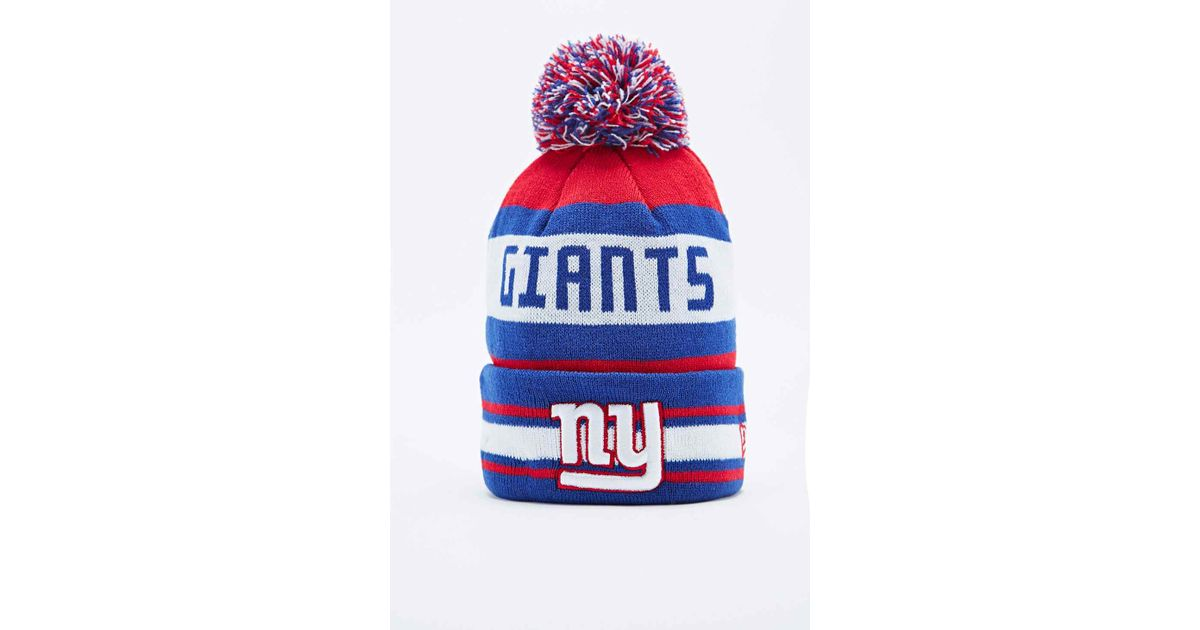 half off 92d1f 593f2 ... top quality ktz multicolor new york giants bobble hat in red and blue  for men lyst