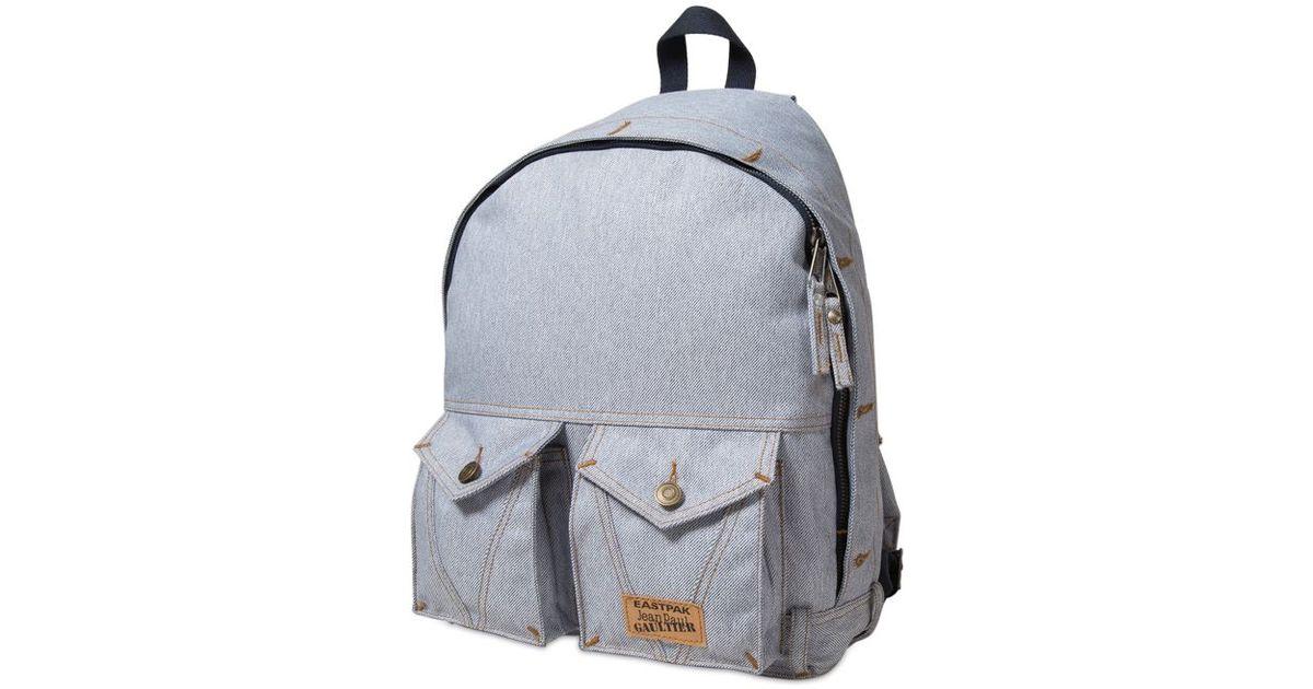 Lyst - Eastpak Jean Paul Gautier Denim Jeans Backpack in Blue
