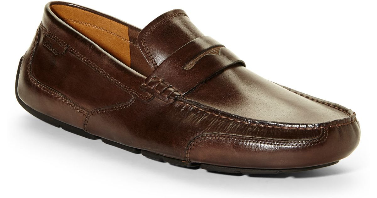 dc723cd96d65 Lyst - Clarks Brown Ashmont Way Penny Loafers in Brown for Men