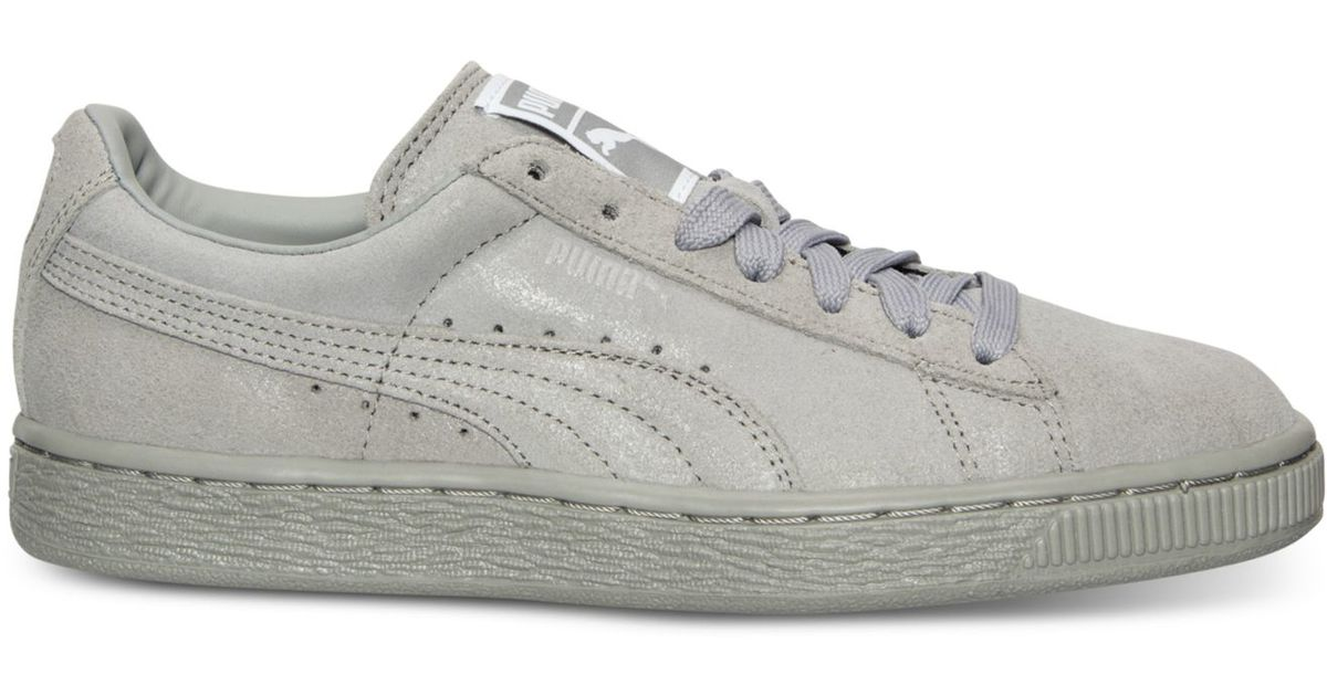 764bf3c76e5f Lyst - PUMA Women s Suede Classic Matte   Shine Casual Sneakers From Finish  Line in Gray