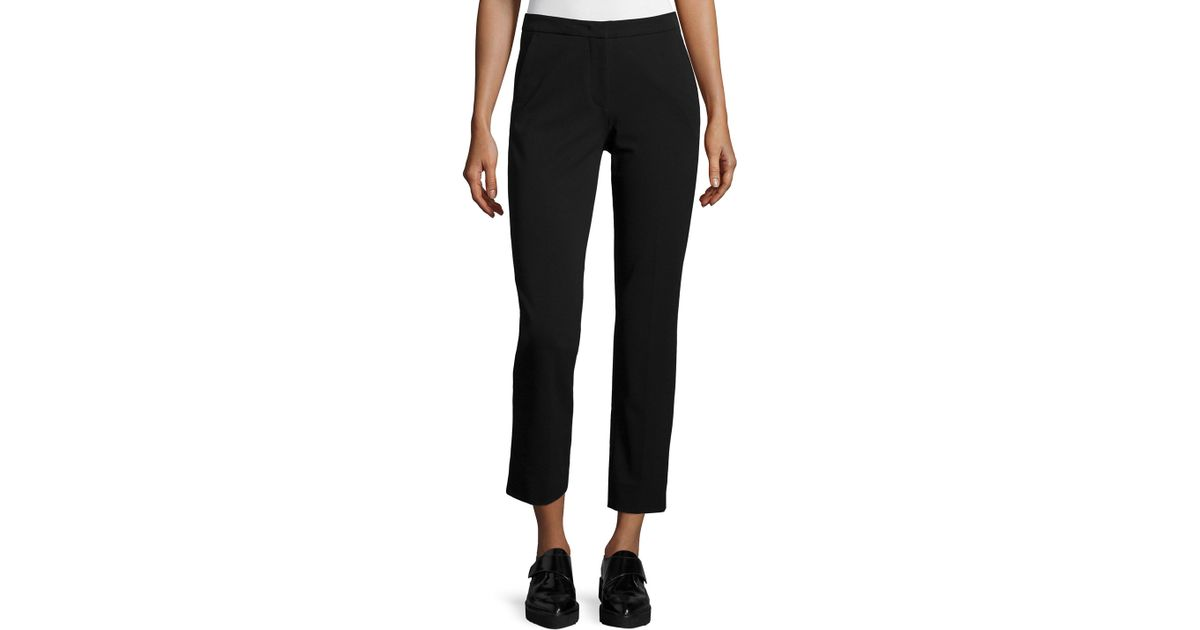 Derek Lam Drake Slim-Leg Cropped Pants In Black