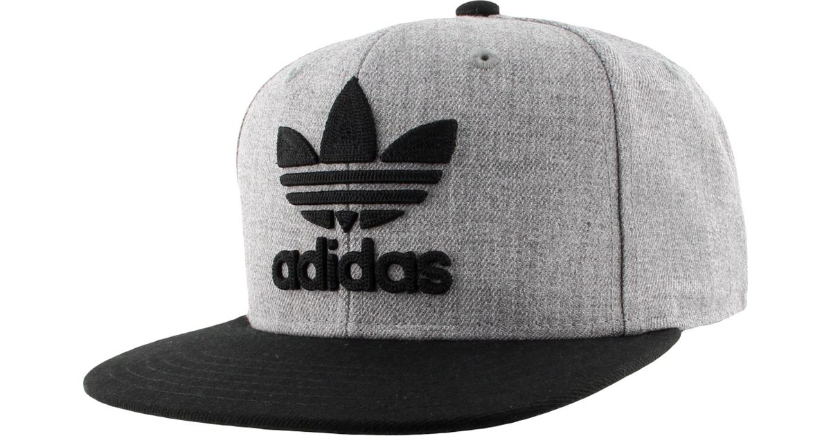 Lyst - adidas Originals Trefoil Chain Snapback Hat in Gray for Men 10d0a562298