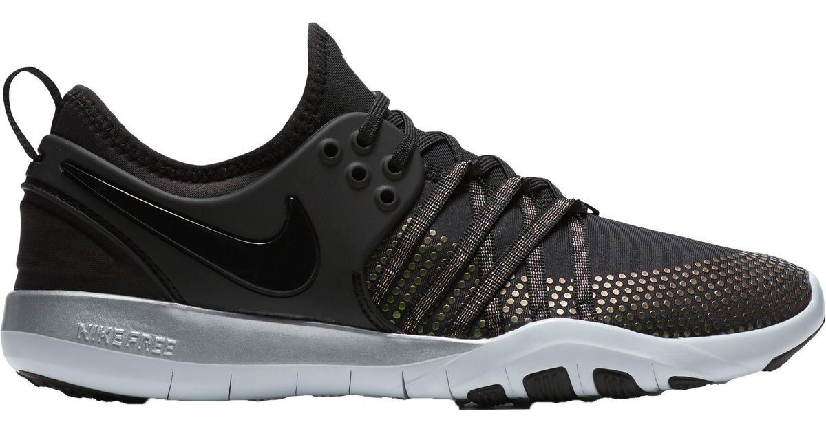 d189180dc664 Lyst - Nike Free Tr 7 Metallic Training Shoes in Black