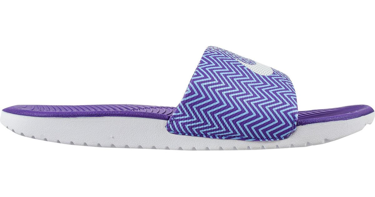 7e8903365b01 Lyst - Nike Kawa Print Slides in Purple