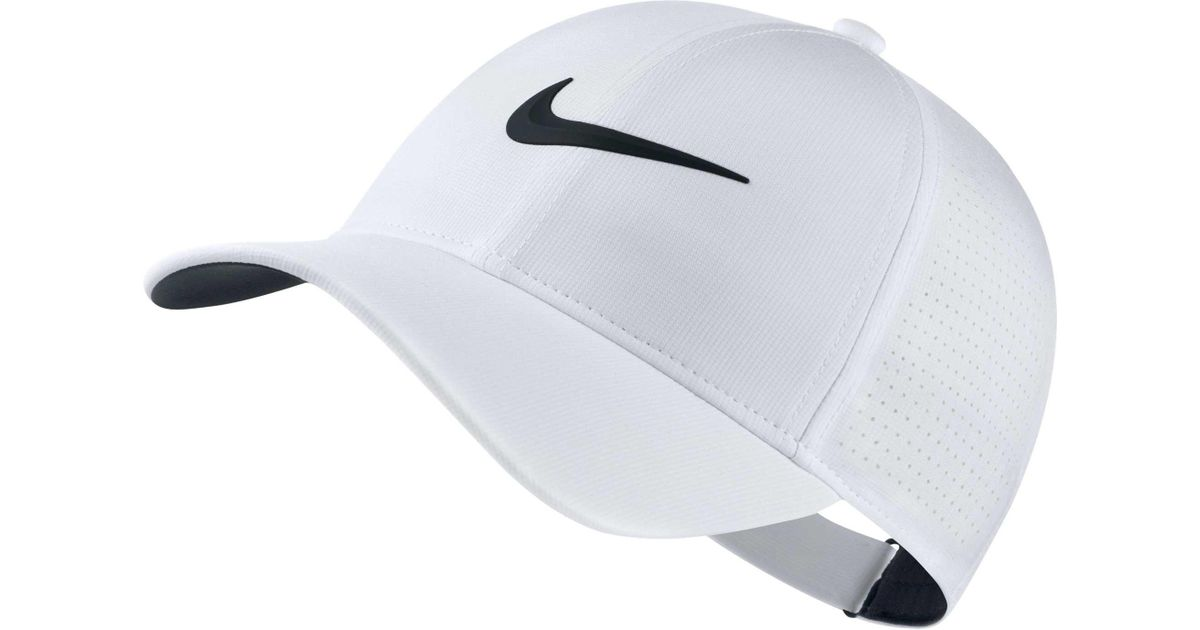 Lyst - Nike 2018 Aerobill Legacy91 Perforated Golf Hat in White 14776290e3b3