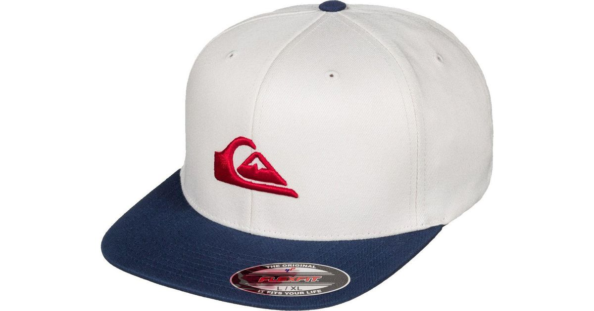 0a51541e1a474 ... purchase lyst quiksilver stuckles flexfit hat in red for men eb2bb 0f567