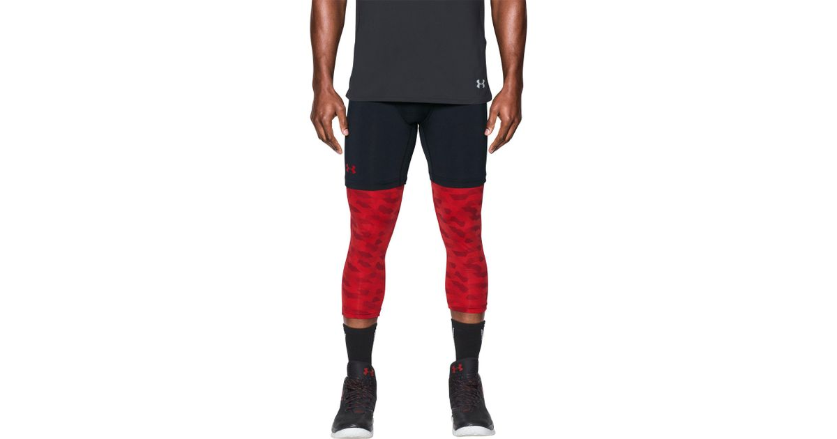 f3c5f9abd8 Under Armour Sc30 Three Quarter Length Basketball Leggings in Red for Men -  Lyst