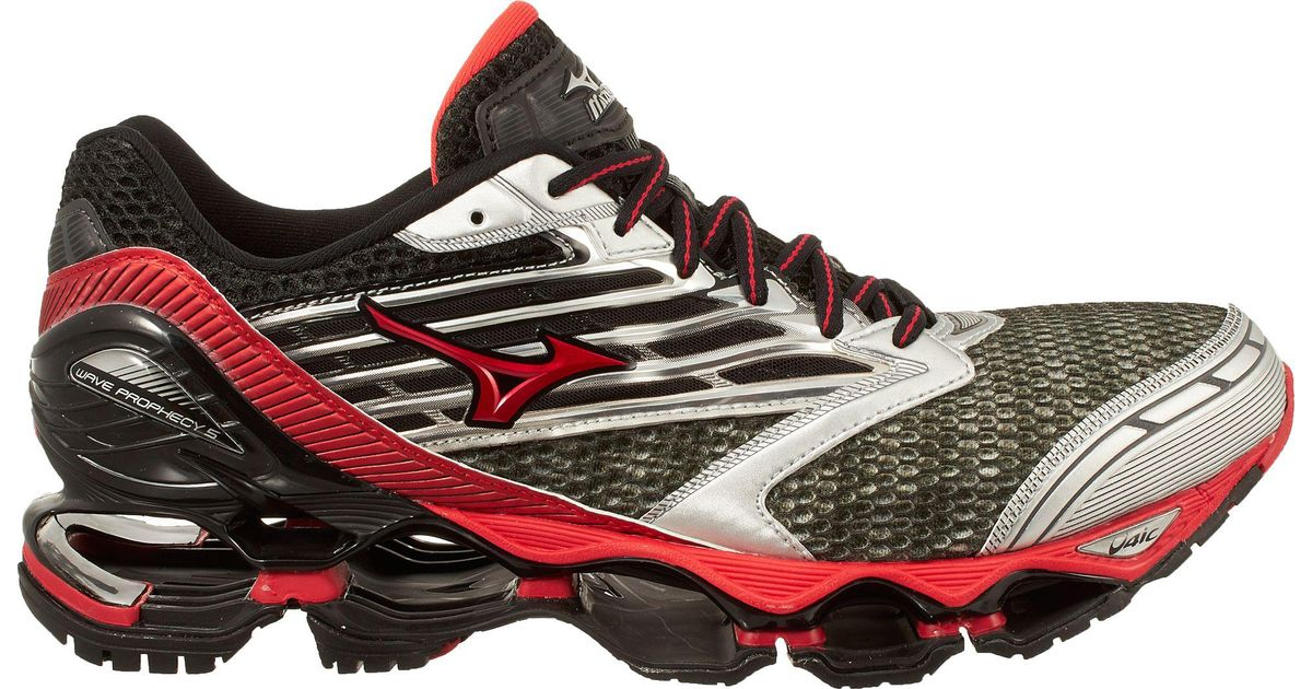 5 Lyst For Men Prophecy In Running Wave Red Mizuno Shoes ap7xBt6p