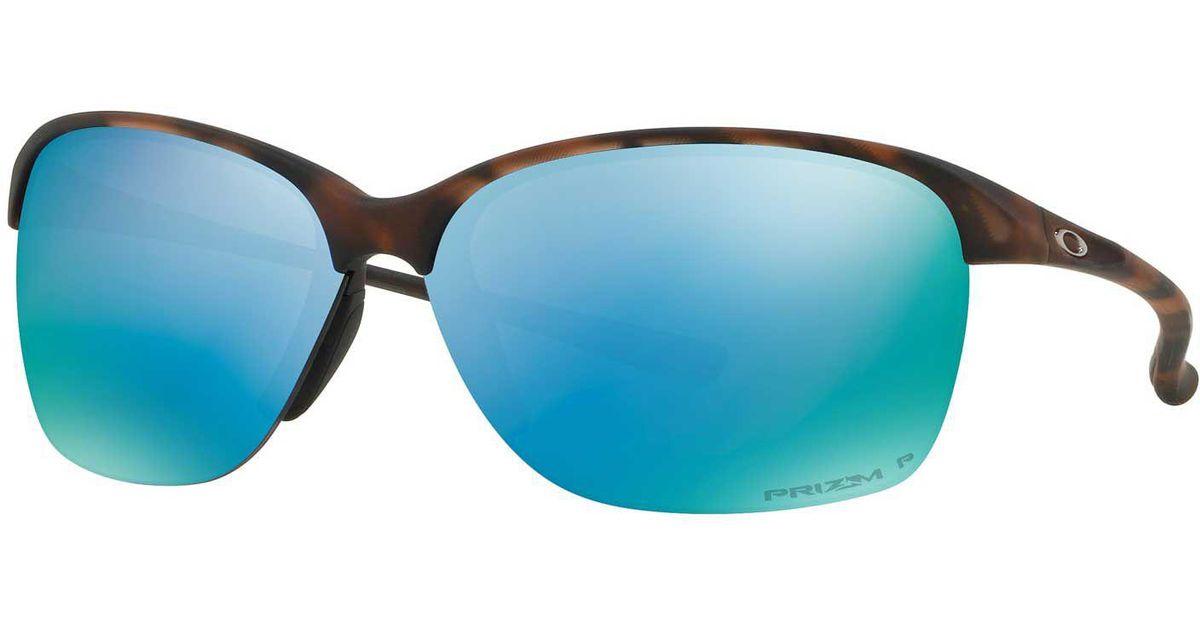 a191b4f0b1 Lyst - Oakley Unstoppable Polarized Sunglasses in Blue