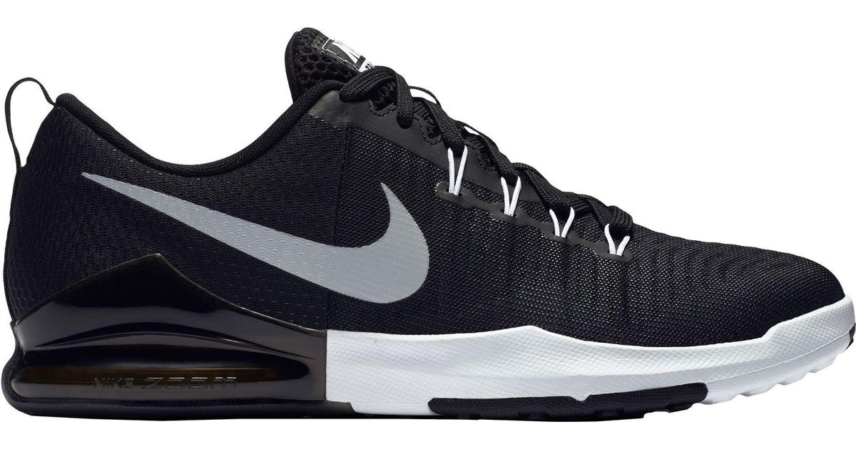 lyst nike zoom train action training shoes in black for men