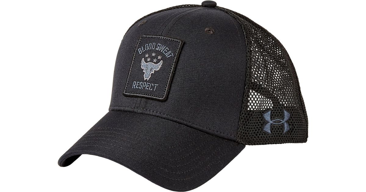 Lyst - Under Armour Project Rock Trucker Hat in Black for Men 6e4964c4c67