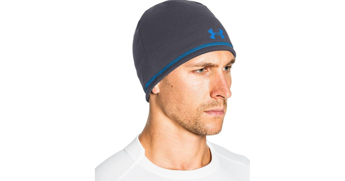 Lyst - Under Armour Coldgear Infrared Elements Storm 2.0 Beanie in Blue for  Men 52aac034a0c
