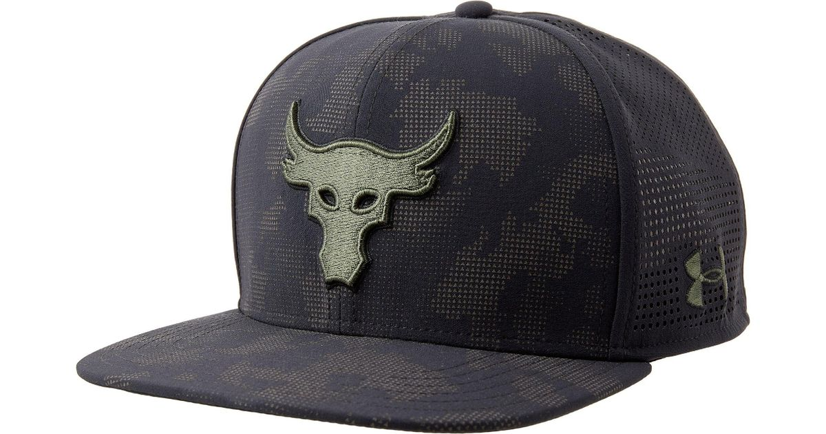 a6db5da86e7 ... canada lyst under armour project rock supervent snapback hat in black  for men 57193 d0bfb