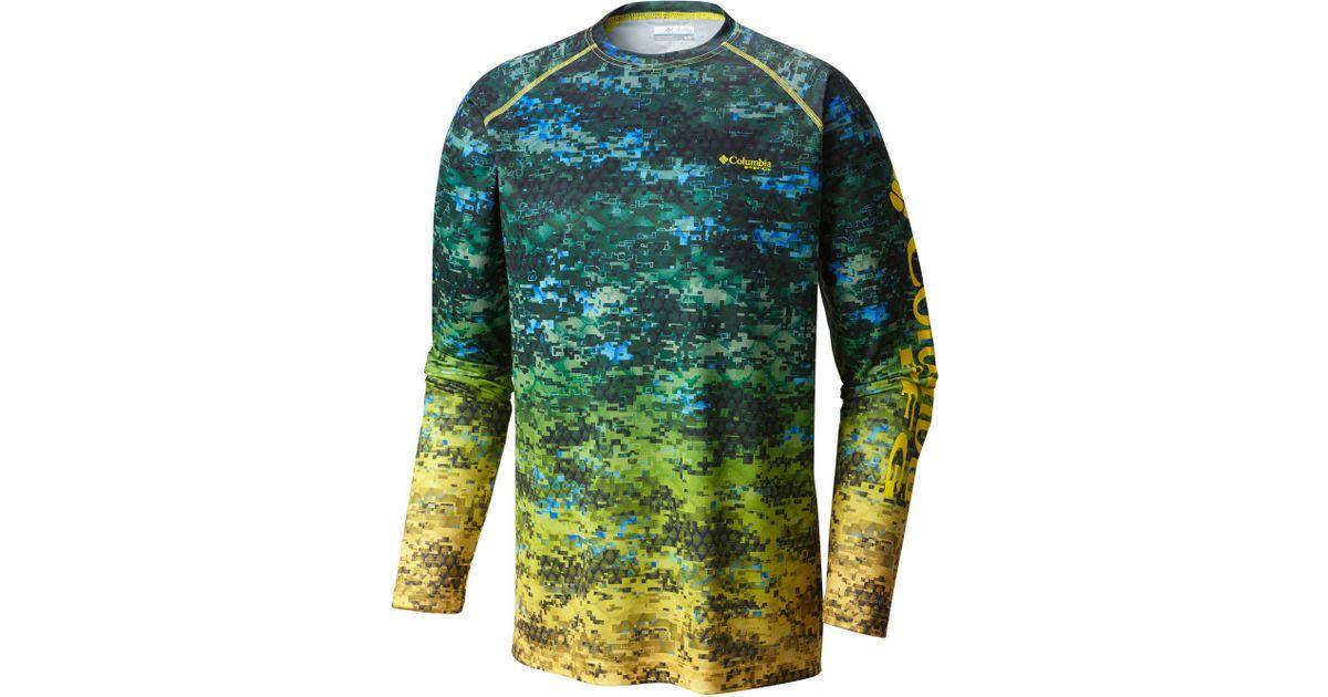 05392d9787ac6 Columbia Pfg Terminal Tackle Camo Fade Long Sleeve Shirt in Green for Men -  Lyst