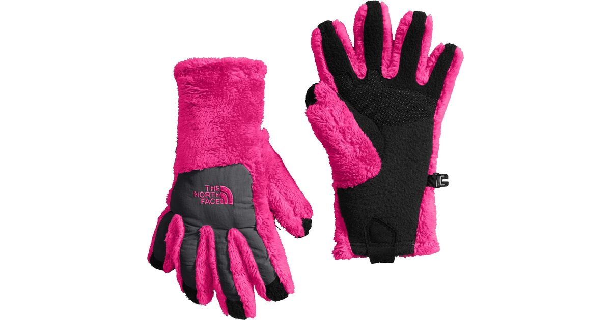 94bad9e06 The North Face - Pink Girls' Denali Thermal Etip Gloves - Lyst