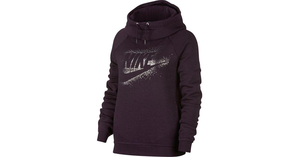 2a7a6949de88 Lyst - Nike Sportswear Rally Metallic Funnel Neck Graphic Hoodie in Metallic  for Men