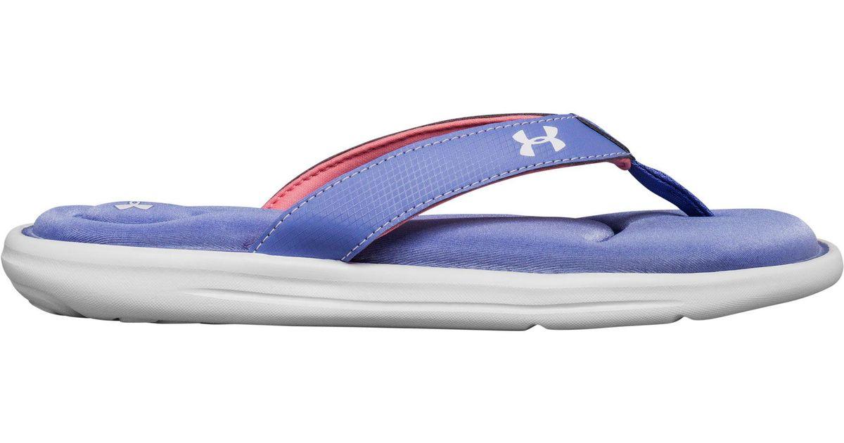 39a05e1272a0 Lyst - Under Armour Marbella Vi Flip Flops in Blue