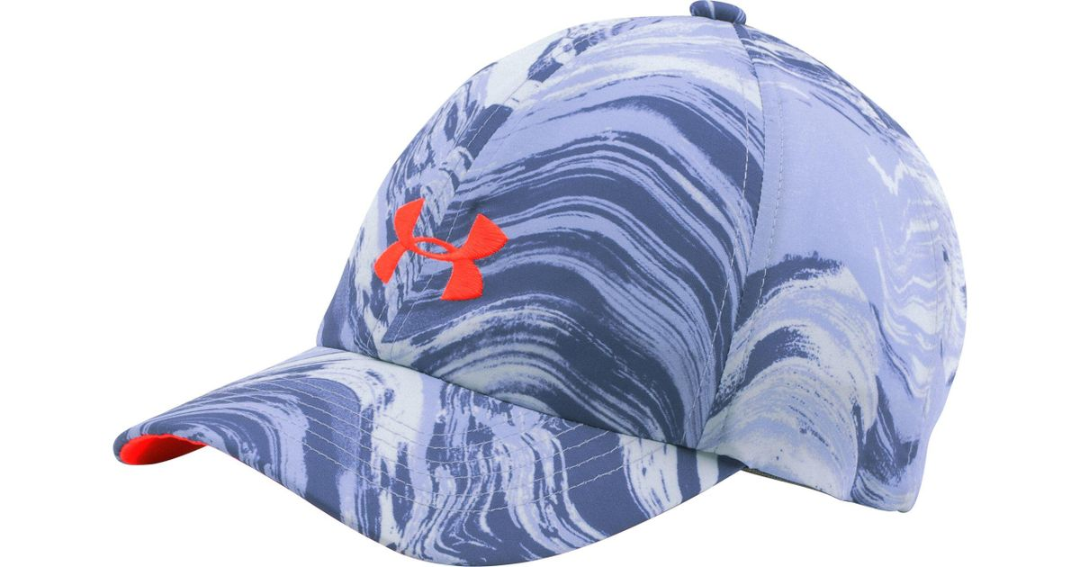 1670abaa93c ... discount lyst under armour girls printed armour hat in blue feccc cfa12