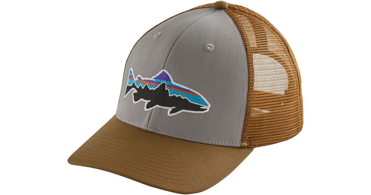 3920468b8e64c Lyst - Patagonia Fitz Roy Trout Trucker Hat in Gray for Men