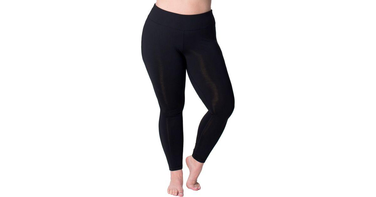 5010b4fe7 Rainbeau Curves Curves Plus Size Premier Basix Nylon Leggings in Black -  Lyst
