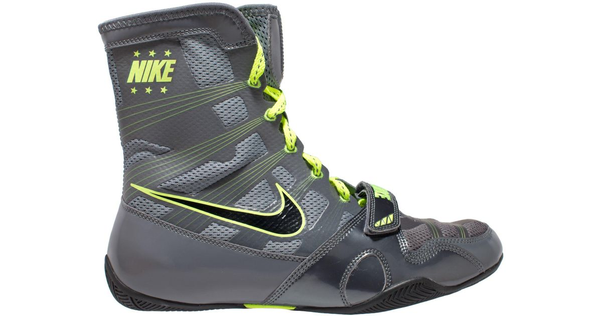 51cb5cd3dfef ... grey neon yellow fighters inc com  lyst nike hyperko mp boxing shoes in  gray for men ...