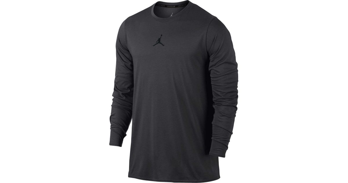 621a0c45 Nike Jordan 23 Alpha Long Sleeve Shirt in Black for Men - Lyst