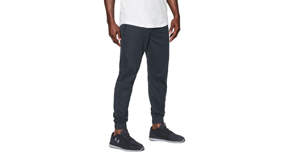 deft design top-rated fashionable and attractive package Under Armour Blue Performance Chino Jogger Pants for men