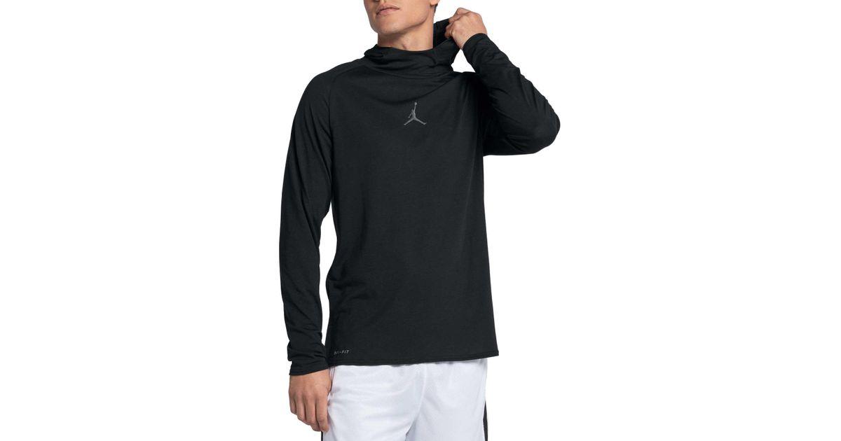 45a2702e Nike Dry 23 Alpha Training Hooded Long Sleeve Shirt in Black for Men - Lyst