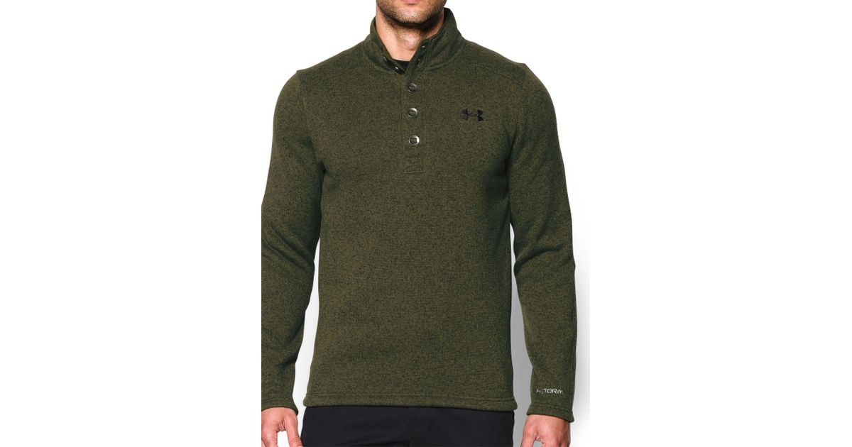 Lyst Under Armour Specialist Storm Sweater In Green For Men