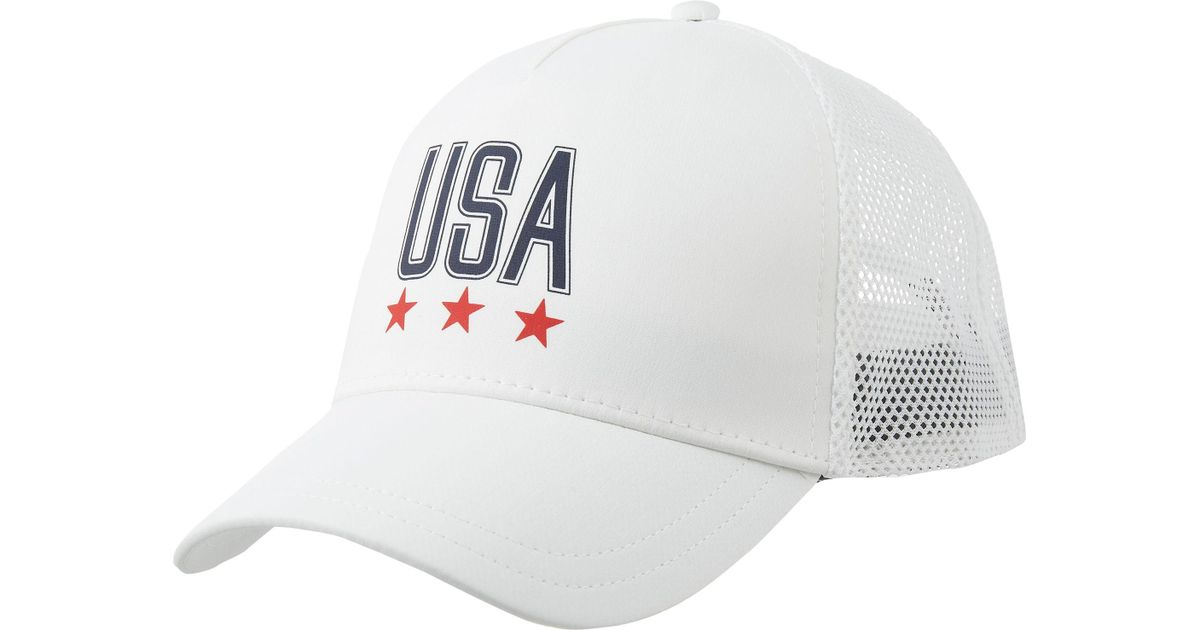 97c6045ebbc ... usa lyst under armour usa snapback hat in white for men 70c31 91b28