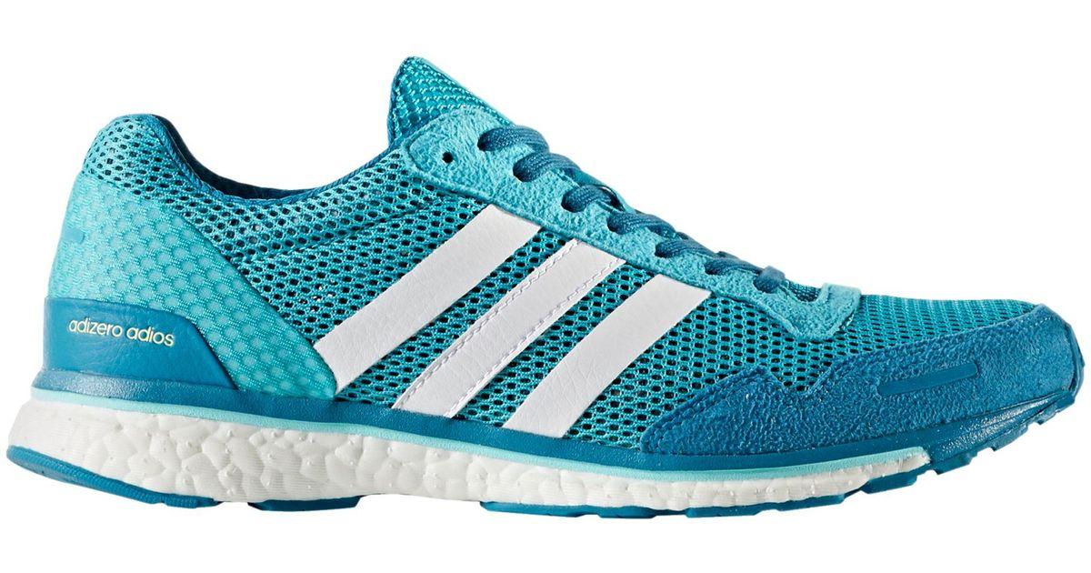 6893ec7ee Lyst - adidas Adizero Adios 3 Running Shoes in Blue