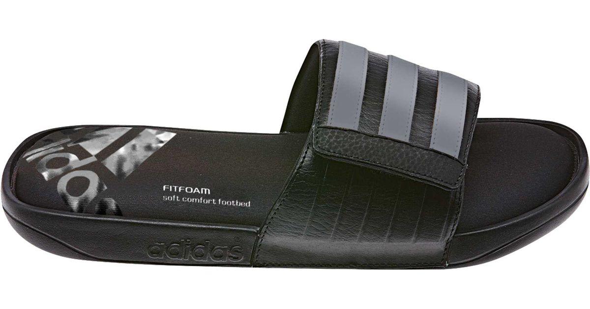 cb5e49ef4 Lyst - adidas Adissage Comfort Ff Slides in Black for Men