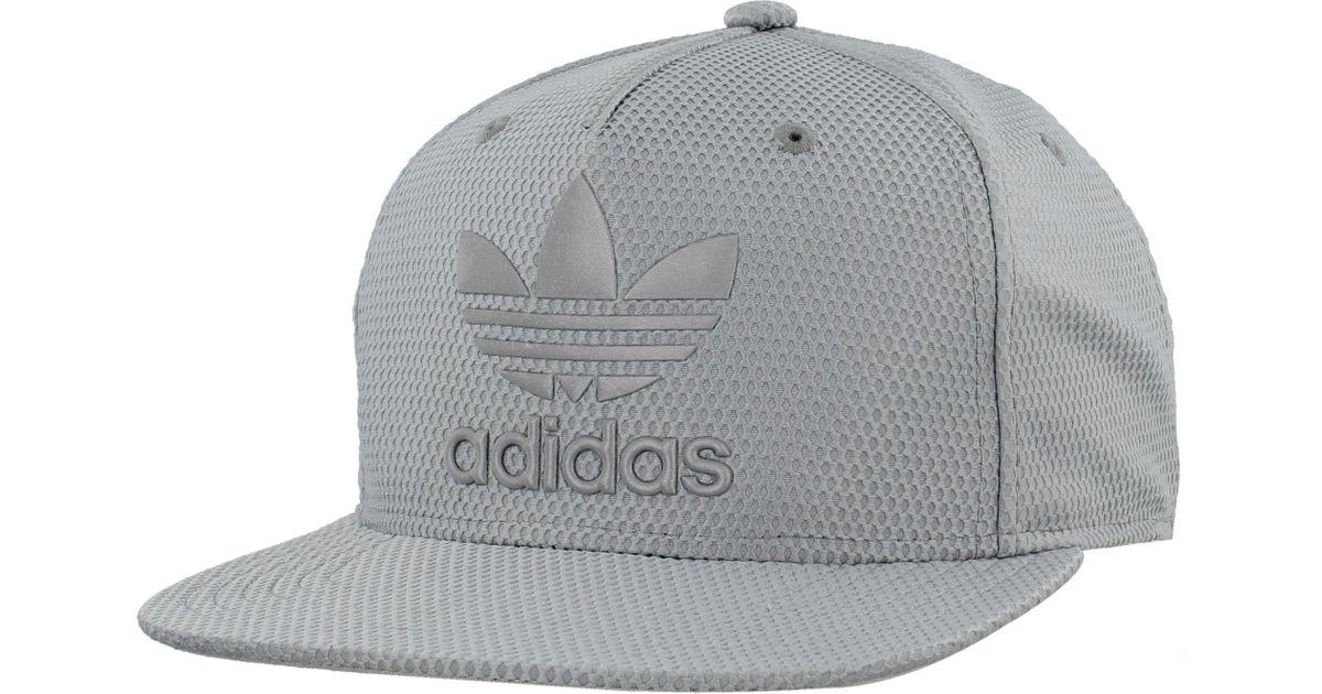 fa4e0e0ca50 Lyst - adidas Originals Originals Trefoil Reflective Snapback Hat in Gray  for Men