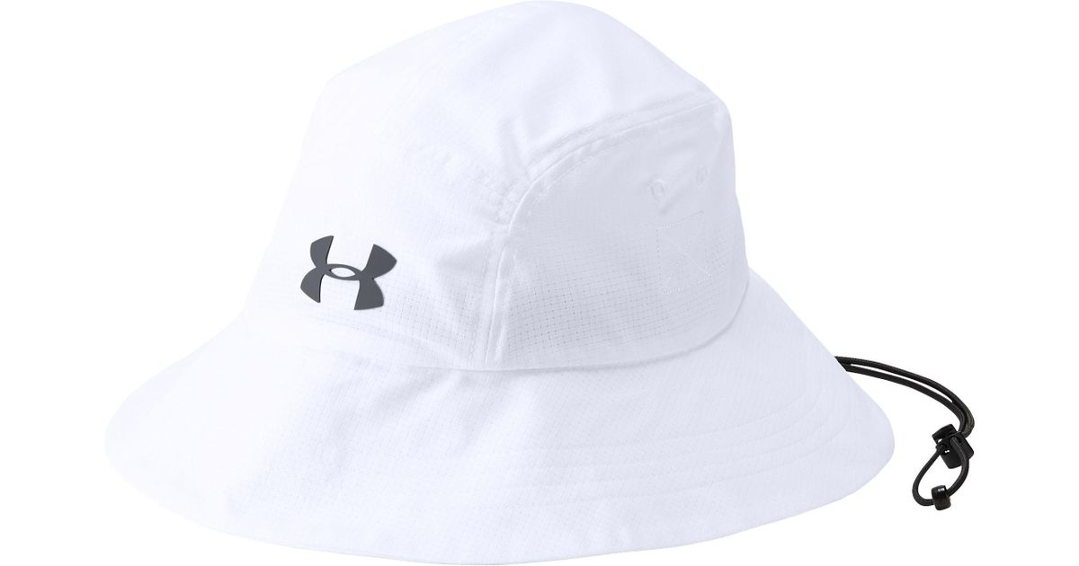79058f6145f53 ... order lyst under armour armourvent warrior 2.0 bucket hat in white for  men 7c0d4 3da97